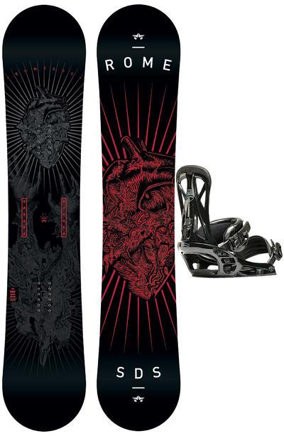 Rome Garage Rocker 157cm Mid / United L Snowboardset 2015/16
