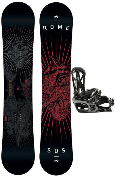 Rome Garage Rocker 160cm Mid / United L Snowboardset 2015/16