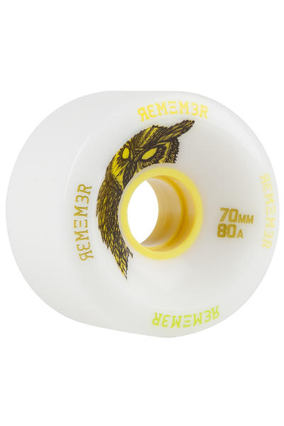 Remember Hoot Slide 70mm 80A Wheel (white) 4 Pack