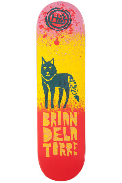 "Habitat Delatorre Tooth And Claw 8.25"" Deck (orange yellow)"