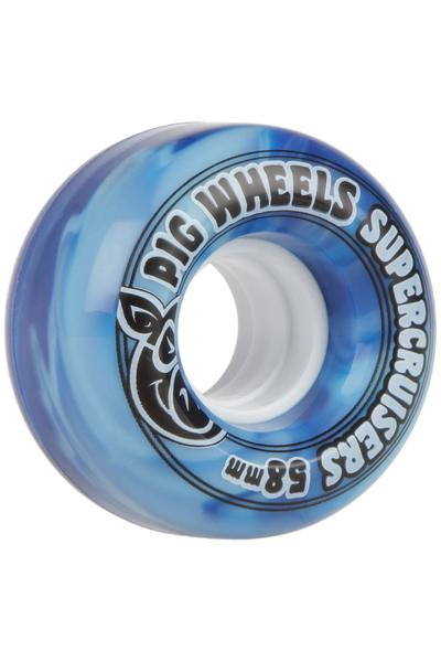 Pig Supercruiser Swirl 58mm Wheel (blue) 4 Pack