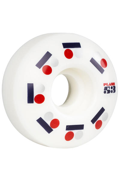 Plan B Team Iconic 53mm Rollen (white) 4er Pack
