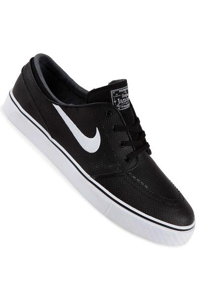 Nike SB Zoom Stefan Janoski Leather Schuh (black white)