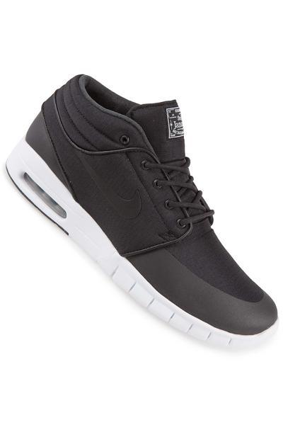 Nike SB Stefan Janoski Max Mid Shoe (black black metallic silver)