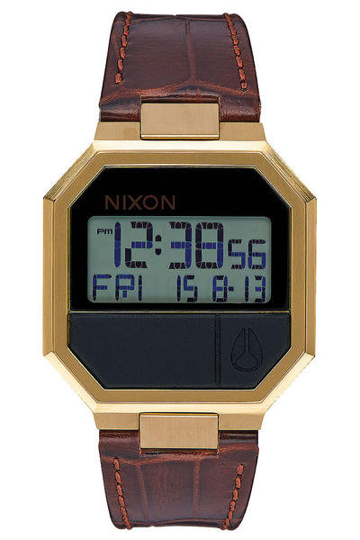Nixon The Re-Run Leather Uhr (brown croc)