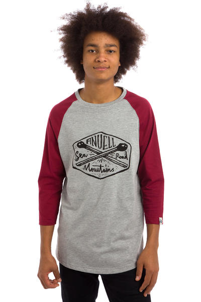 Anuell Strike 3/4 Camiseta de manga larga (heather grey burgundy)
