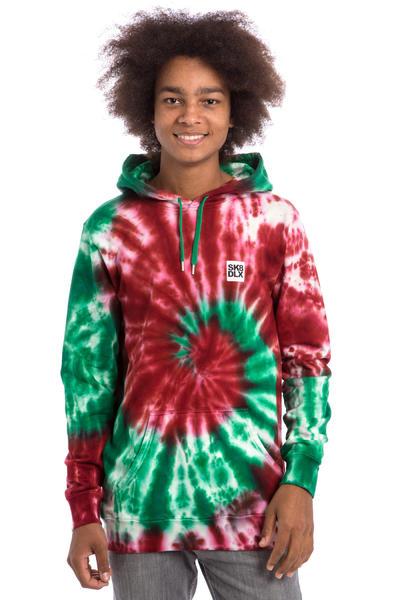 SK8DLX Tie Dye Hoodie (red green)