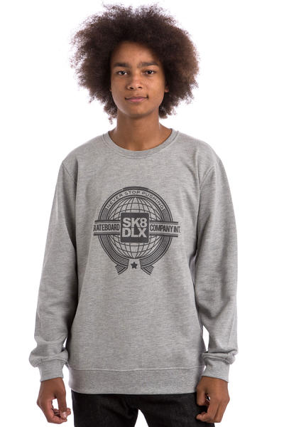 SK8DLX World Sweatshirt (heather grey)