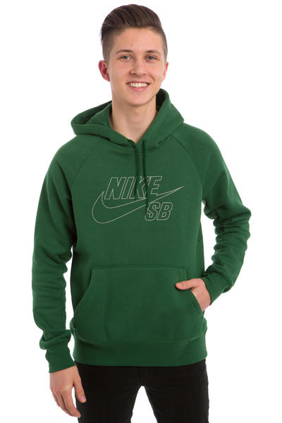 Nike SB Icon Reflective Hoodie (gorge green)