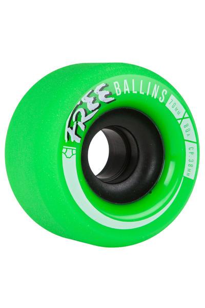 Free Wheels Ballins 70mm 80A Wheel (green) 4 Pack