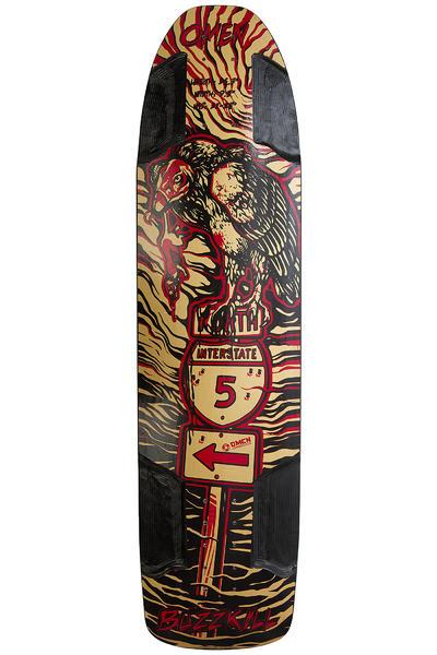 """Omen Buzzkill 36.5"""" (92,7cm) Longboard Deck (black gold red)"""