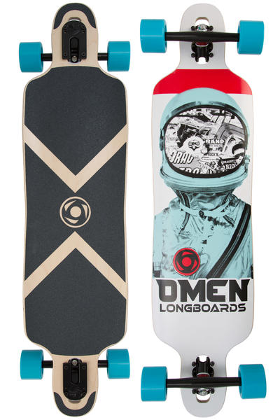 """Omen Drop Trough 38"""" (96,5cm) Longboard-Complète (astronaut)"""