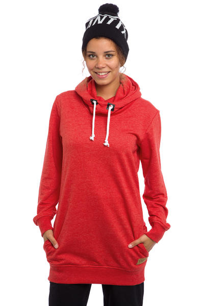 Colour Wear Hype Snow Hoodie women (red melange)