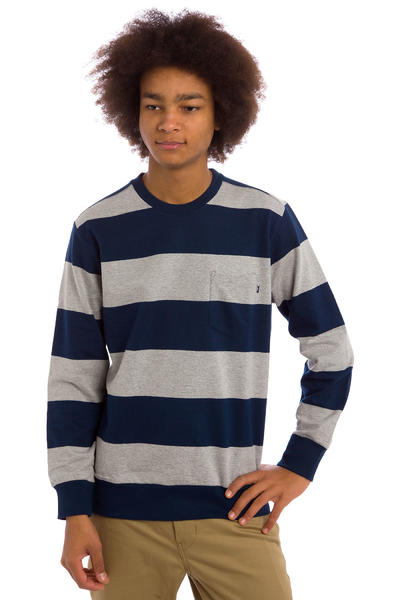 Obey Edinburgh Pocket Sweatshirt (navy heather grey)