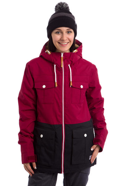 Colour Wear Bust Snowboard Jacket women (burgundy)