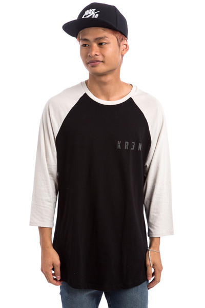 KR3W Distress Locker 3/4 Longsleeve (black eggshell)
