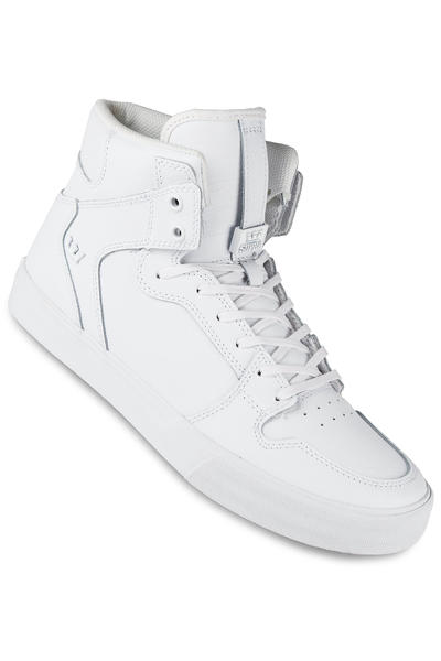 Supra Vaider Leather Shoe (white white red)