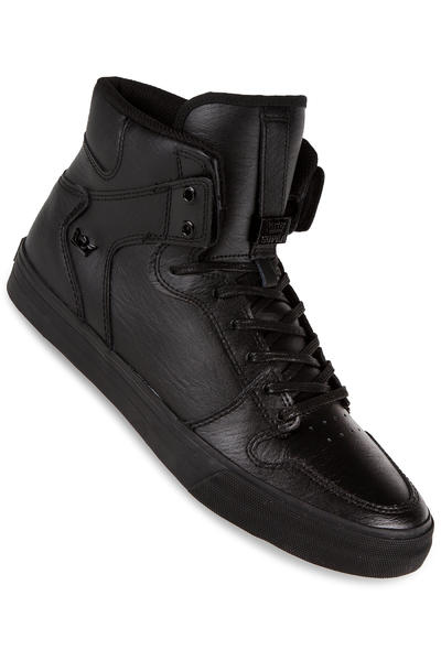 Supra Vaider Leather Shoe (black black red)