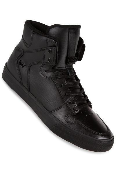 Supra Vaider Leather Shoe (black black red)