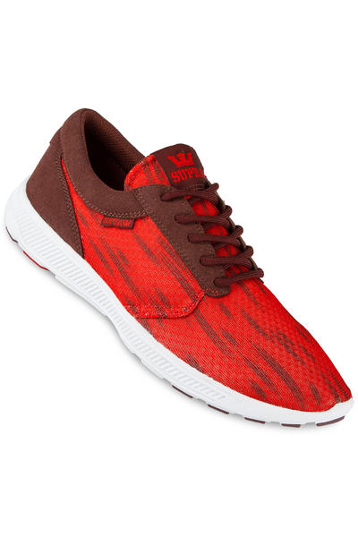 Supra Hammer Run Shoe (red burgundy white)