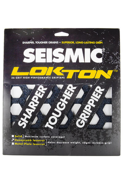 Seismic Lokton Honeycomb Griptape (black) 3er Pack
