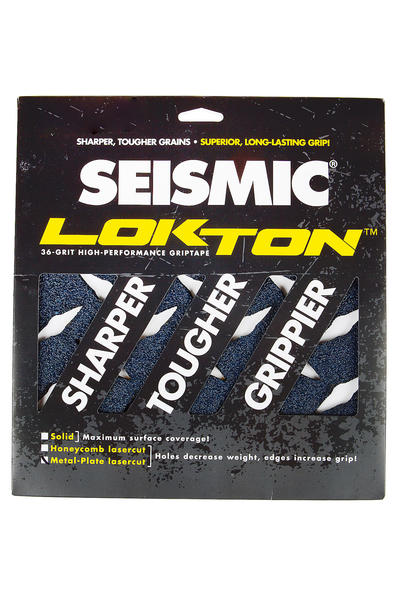 Seismic Lokton Metal-Plate Griptape (black) 3er Pack