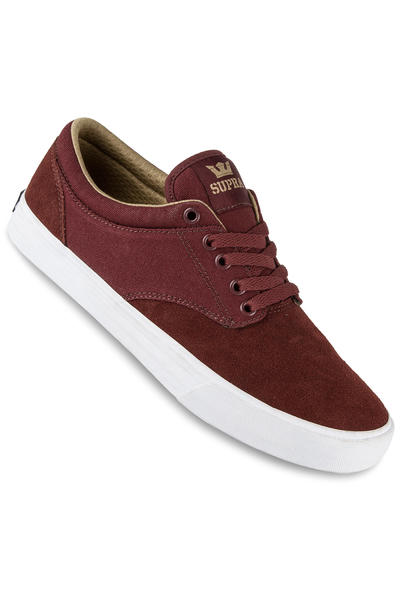 Supra Chino Shoe (burgundy khaki white)