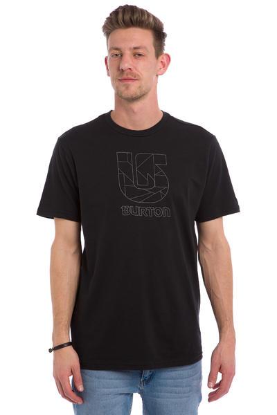 Burton Logo Vertical Slim Camiseta (true black)