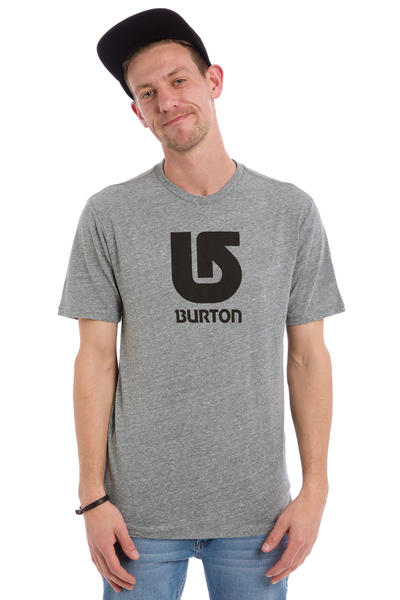 Burton Logo Vertical Slim T-Shirt (grey heather)