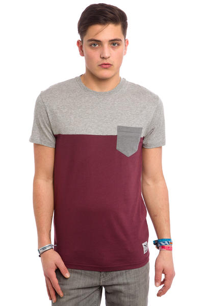 Iriedaily Block Pocket T-Shirt (red wine)