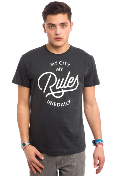 Iriedaily My City Typo T-Shirt (coal)
