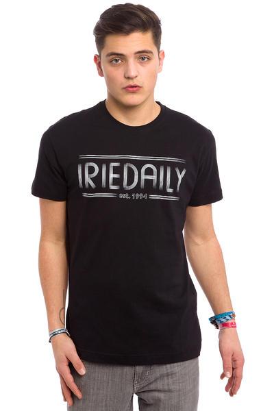 Iriedaily Striped Typo T-Shirt (black)