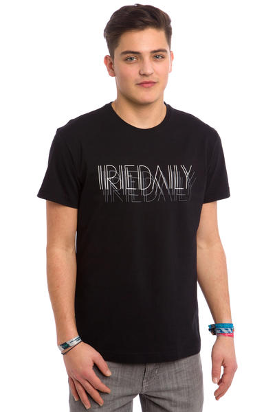 Iriedaily Art Deco Typo T-Shirt (black)