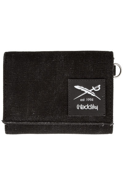 Iriedaily Canvas Trifold Wallet (black melange)