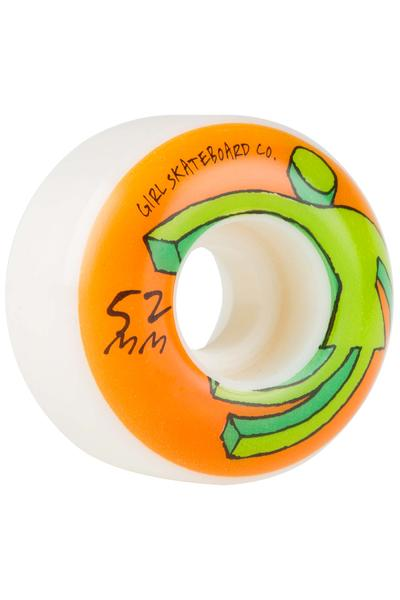 Girl Action OG 52mm Wheel (white) 4 Pack