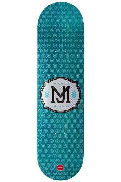 "Chocolate Johnson Monogram 8.125"" Deck (turquoise)"