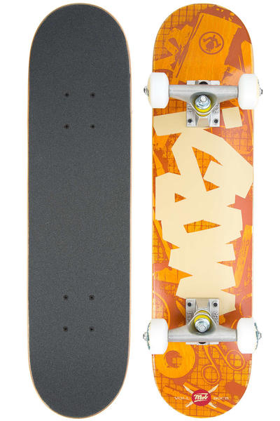 "MOB Skateboards Tape Desk Micro 6.5"" Complete-Board (orange)"