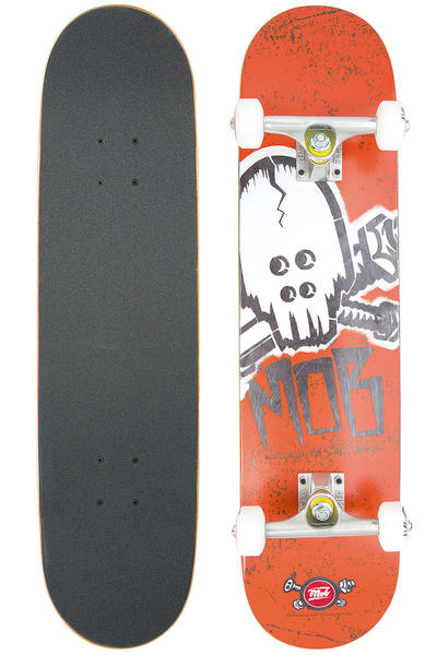 "MOB Skateboards Skull Stencil 7.5"" Complete-Board (orange)"