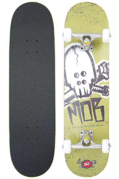 "MOB Skateboards Skull Stencil 7.75"" Complete-Board (green)"