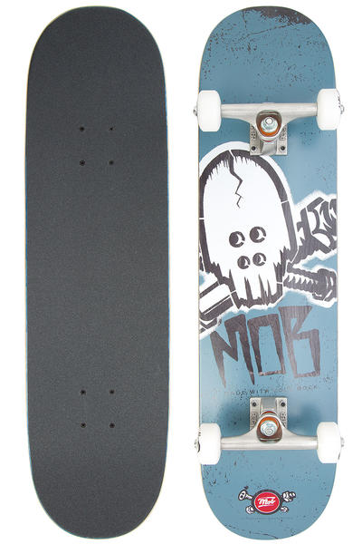 "MOB Skateboards Skull Stencil 8"" Complete-Board (blue)"
