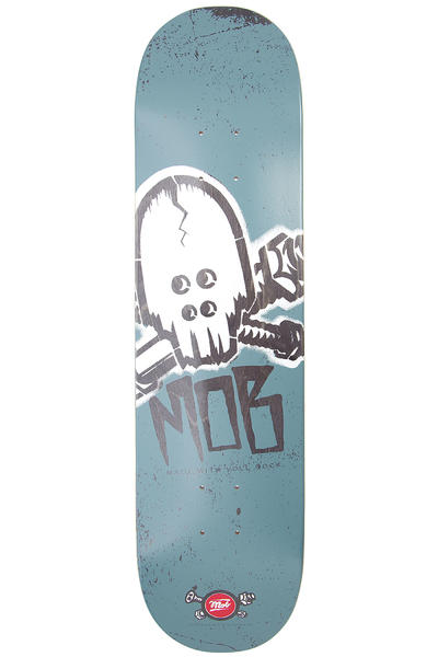 "MOB Skateboards Skull Stencil 8"" Deck (blue)"