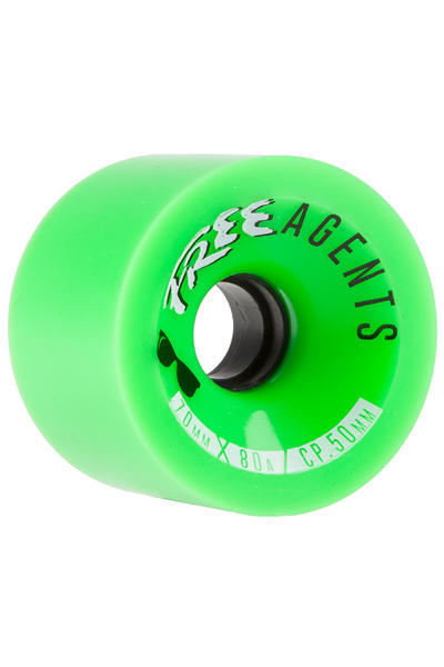 Free Wheels Agents 70mm 80A Wheel (green) 4 Pack