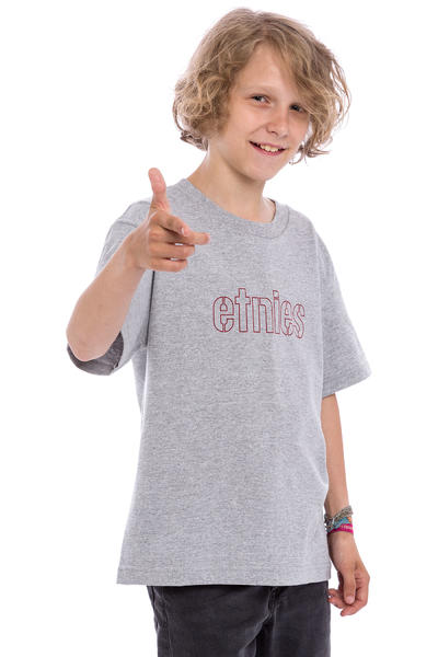 Etnies Mod Stencil T-Shirt kids (grey red)