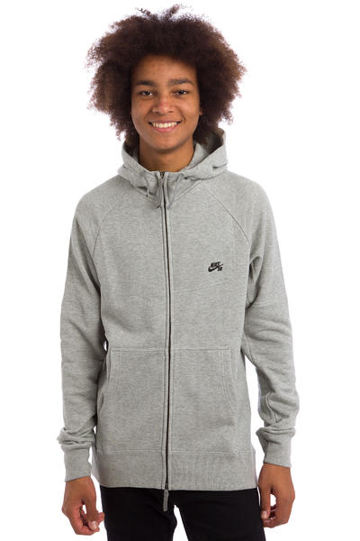 Nike SB Everett Graphic Zip-Hoodie (dark grey heather)