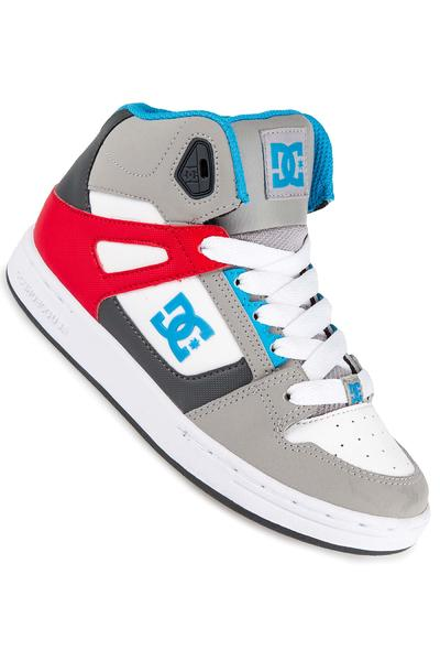 DC Rebound Shoe kids (grey grey red)