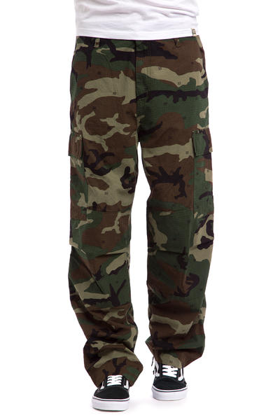 Carhartt WIP Cargo Pant Columbia Pants (camo 313 green rinsed)