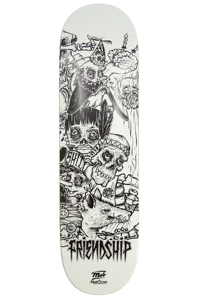 "MOB Skateboards x Skatecrew Friendship 3 8.5"" Deck (white black)"
