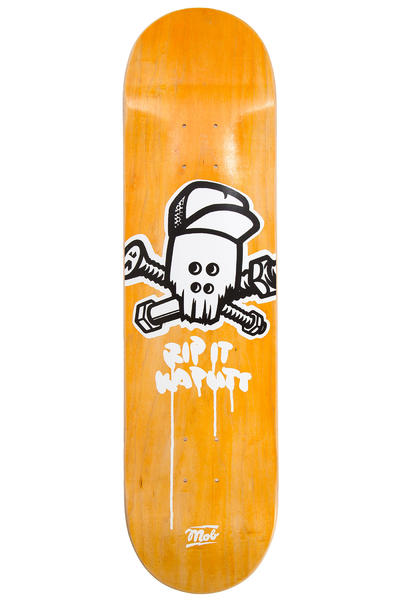 "MOB Skateboards Metal Skull 8.125"" Deck (yellow)"