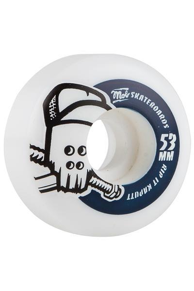 MOB Skateboards Skull 53mm Wheel (white blue) 4 Pack