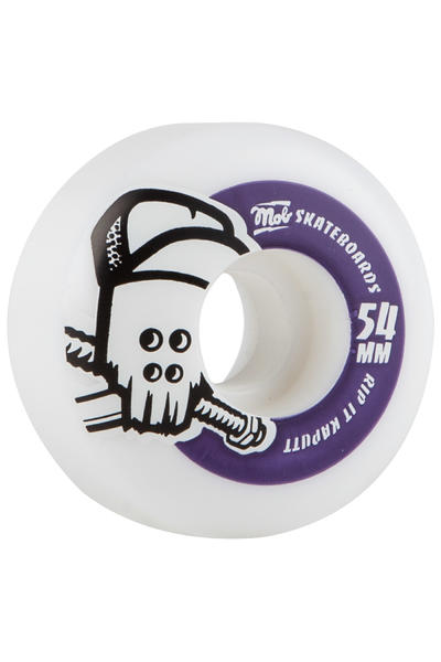 MOB Skateboards Skull 54mm Rollen (white purple) 4er Pack